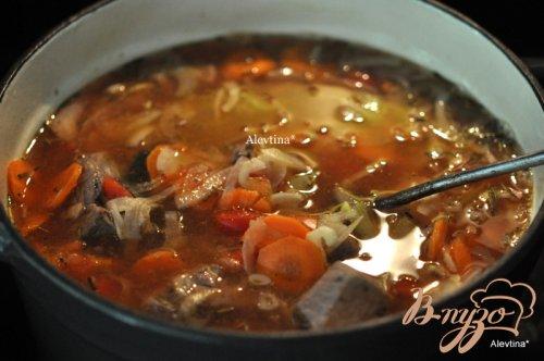 Суп из чечевицы с говядиной