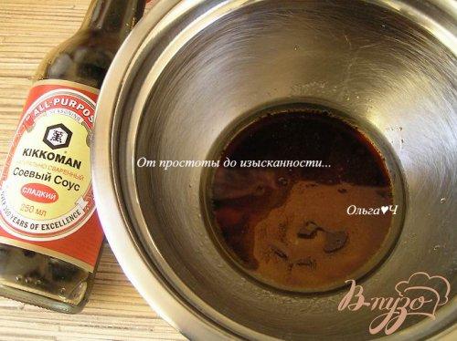 Лук, запеченный в соевом соусе