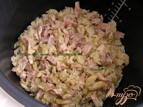 Фриттата с курицей, рисом и капустой (в мультиварке)