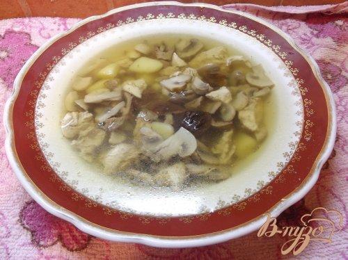 Суп с двумя видами грибов