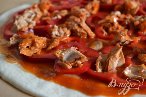 Пицца с консервированной семгой