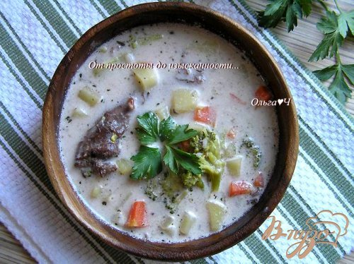 Сливочный суп из утки с рисом Рубин