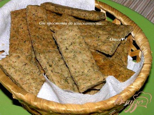 Ржаные хлебцы с укропом