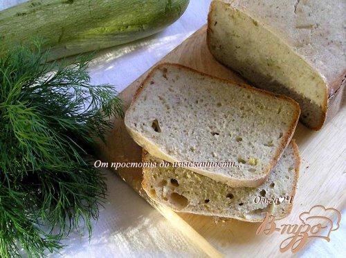 Хлеб с кабачком и укропом