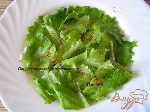 Овощной салат с перепелиными яйцами