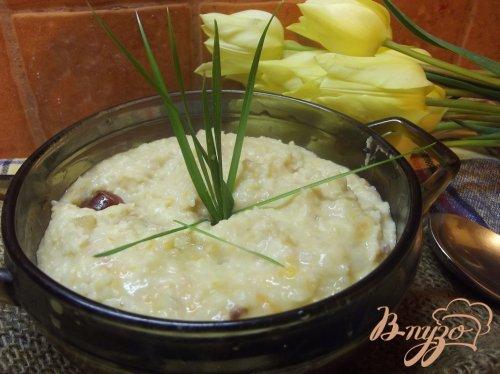 Фасолевый суп -пюре с копчеными колбасками