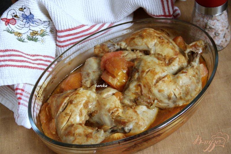 Фото приготовление рецепта: Окорочка, запечённые в пряном маринаде шаг №5