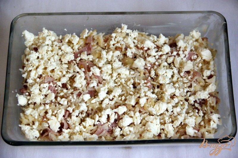 Фото приготовление рецепта: Ризопита - рисовая запеканка по-гречески шаг №4