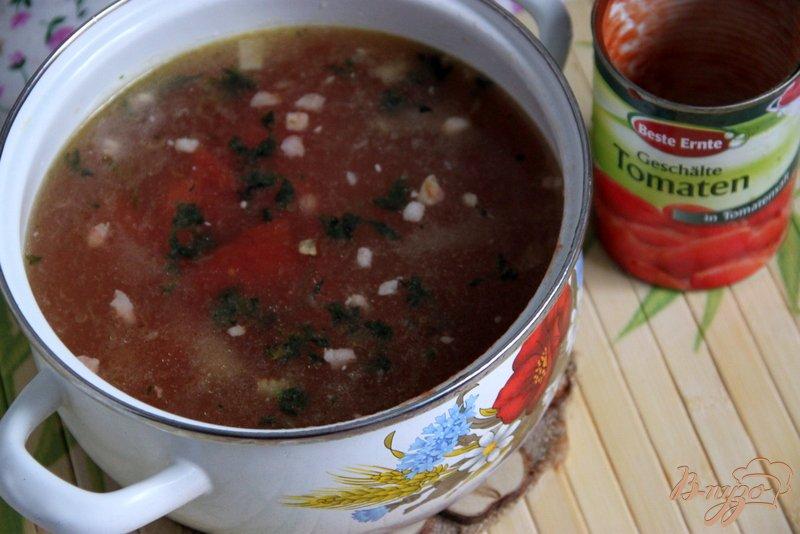 Фото приготовление рецепта: Minestra di riso - итальянский рисовый суп с чечевицей шаг №3