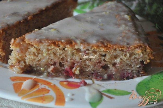 Рецепт Клюквенный кекс с глазурью