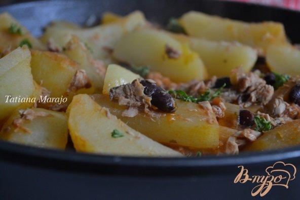 Рецепт Картофельные дольки с тунцом