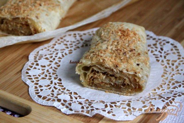 Рецепт Кокосово-ореховый слоёный рулет
