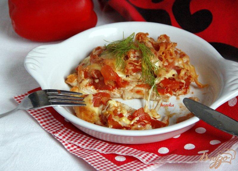 Фото приготовление рецепта: Курица-пицца шаг №6