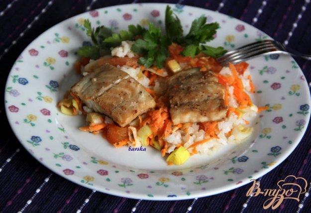 фото рецепта: Треска маринованная,  запечённая с овощами