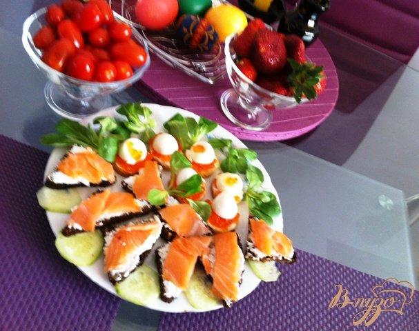 Рецепт Канапе с сыром Филадельфия и лососем