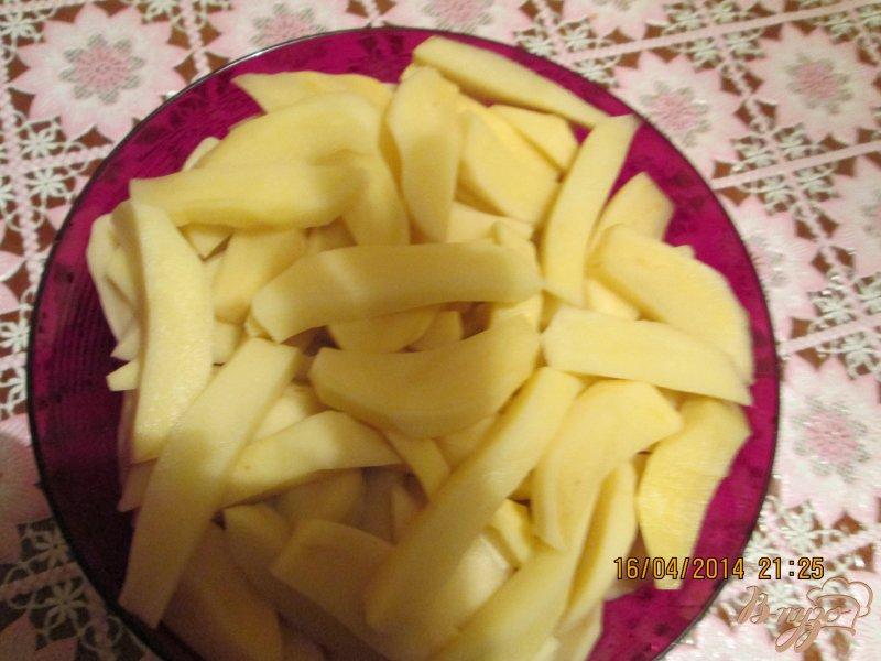 Фото приготовление рецепта: Картошечка на крыльях с грибами шаг №2