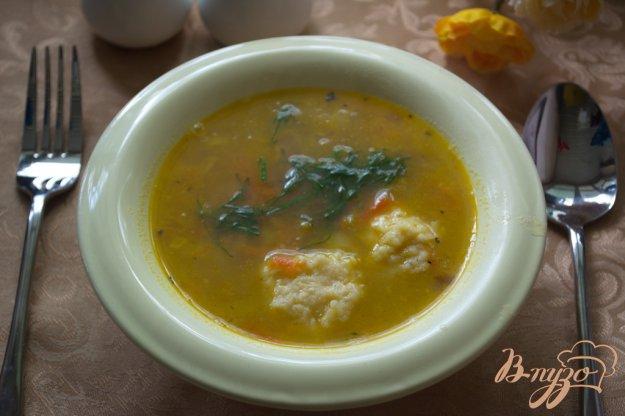 фото рецепта: Суп с сырными шариками-клецками