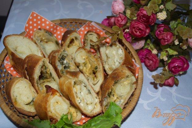 фото рецепта: Хлебный рулет с сыром