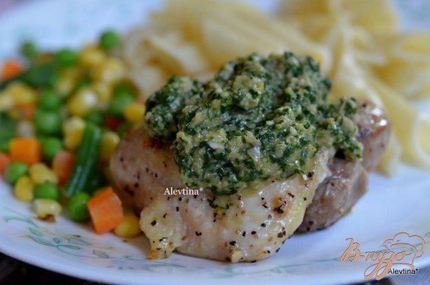 Рецепт Куриные бедрышки с соусом кинзы
