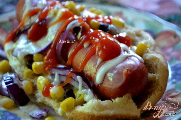 Рецепт Быстрый обед с колбасками Братвурст