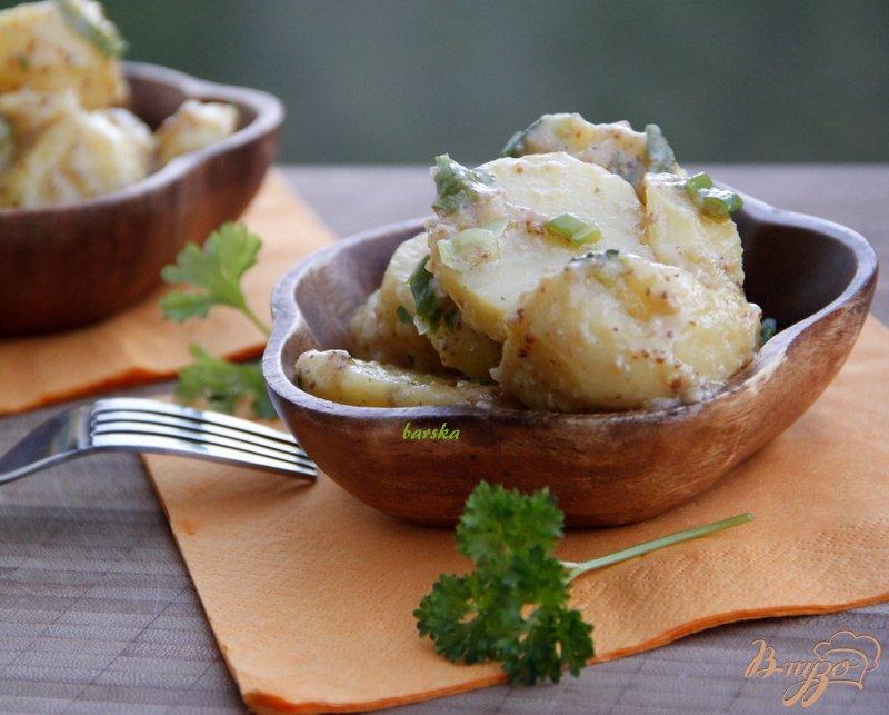 Фото приготовление рецепта: Горчичный картофель шаг №3