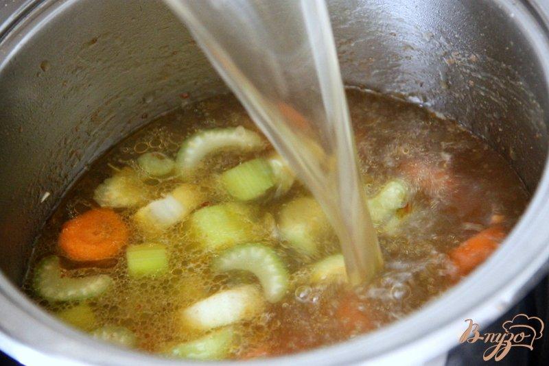 Фото приготовление рецепта: Суп с авокадо и креветками шаг №5