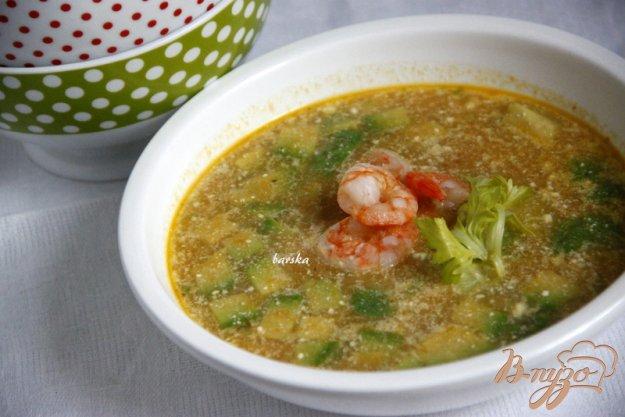 фото рецепта: Суп с авокадо и креветками