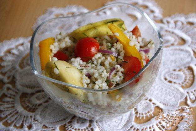 Рецепт Тёплый салат из перловки и овощей