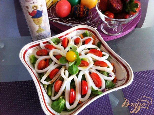 фото рецепта: Салат овощной с кальмарами