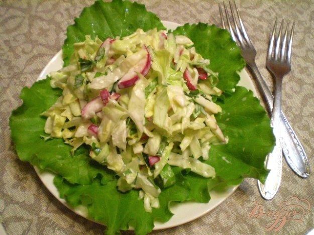 фото рецепта: Овощной салат с яблоком и майонезом