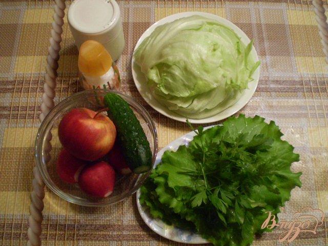 Фото приготовление рецепта: Овощной салат с яблоком и майонезом шаг №1