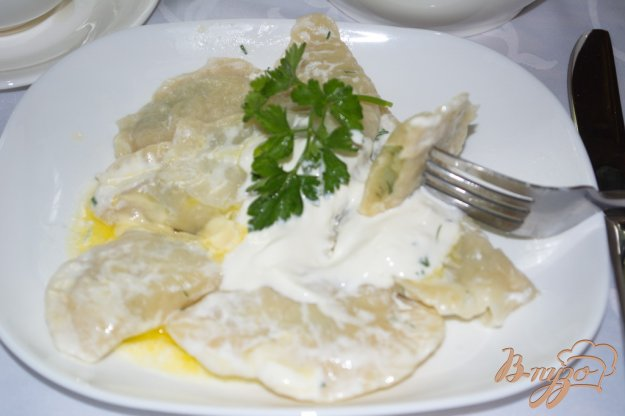 фото рецепта: Вареники с укропом и картофелем