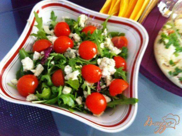 Рецепт Овощной салат с голубым сыром
