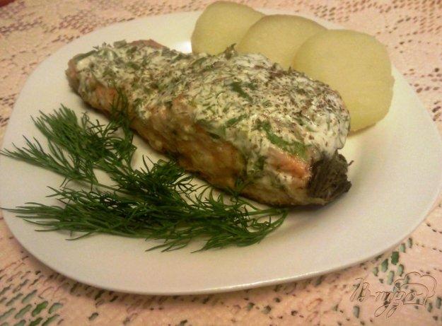 Рецепт Семга под пряным сметанным соусом