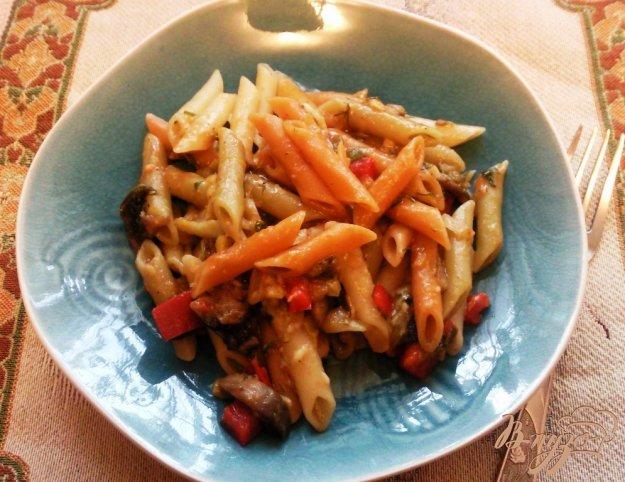 Рецепт Перья с грибной подливой