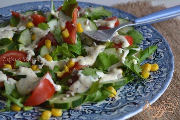 Рецепт Овощной салат с яично-горчичным соусом