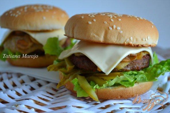 Рецепт Говяжий бургер с грибами