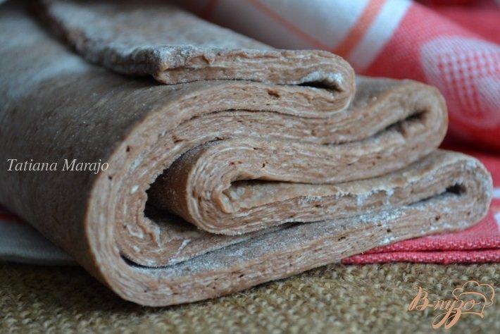 Дрожжевое слоеное тесто (шоколадное)