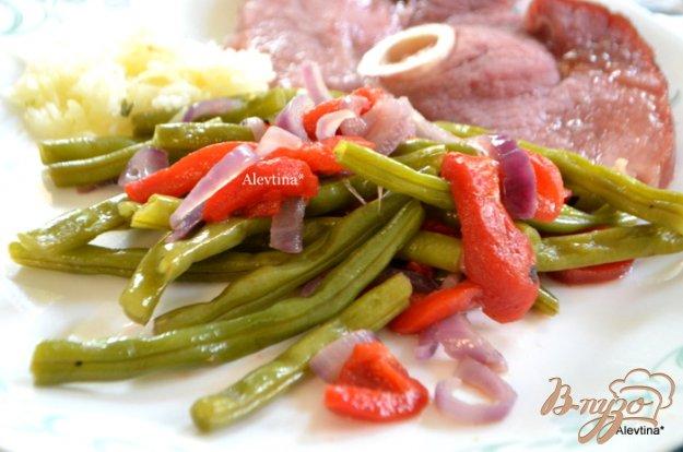 Рецепт Зеленая фасоль с красным перцем