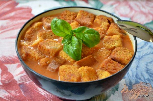 фото рецепта: Томатный суп с крутонами