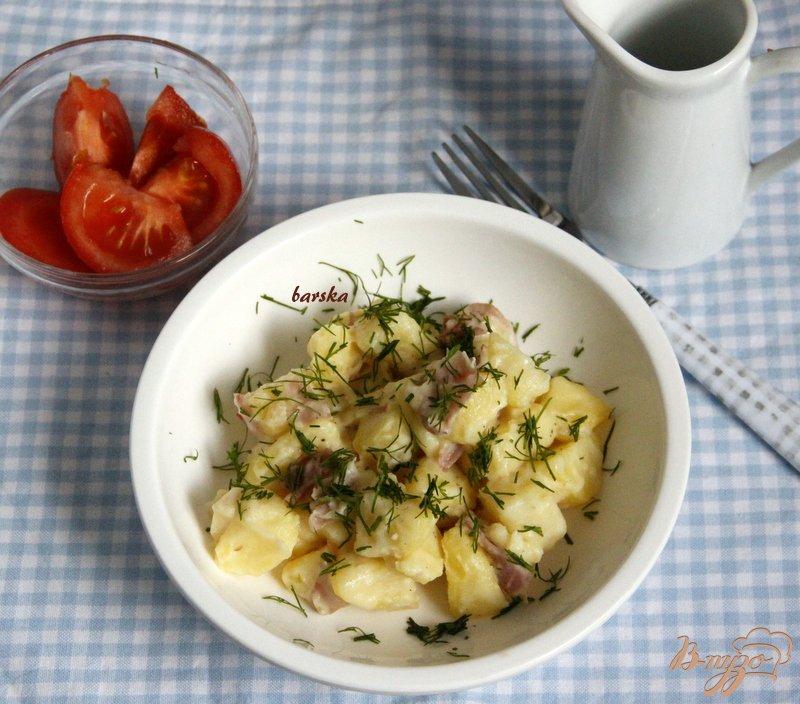 Фото приготовление рецепта: Сливочный картофель шаг №4