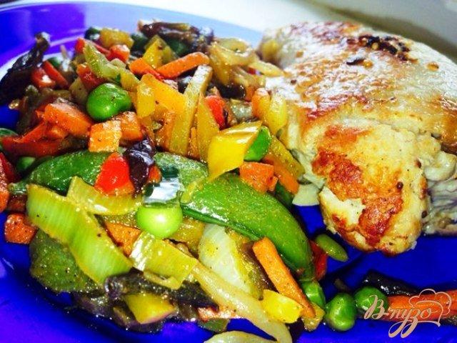 Фото приготовление рецепта: Овощи по-восточному шаг №5