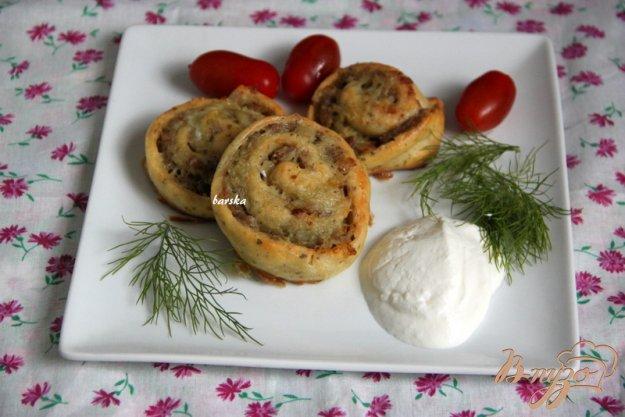 Рецепт Творожные улитки с фаршем и картофелем