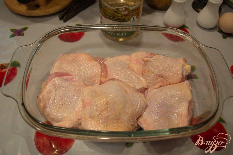 Фото приготовление рецепта: Куриные бедра запеченные в вине с шашлычными специями шаг №1