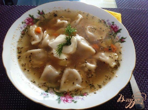 Рецепт Пельменный суп.