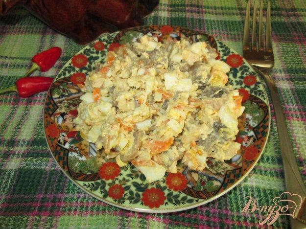 Рецепт Салат с грибами, курицей и яйцом