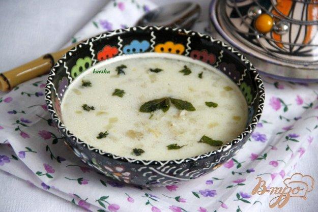 фото рецепта: Йогуртовый суп с перловой крупой