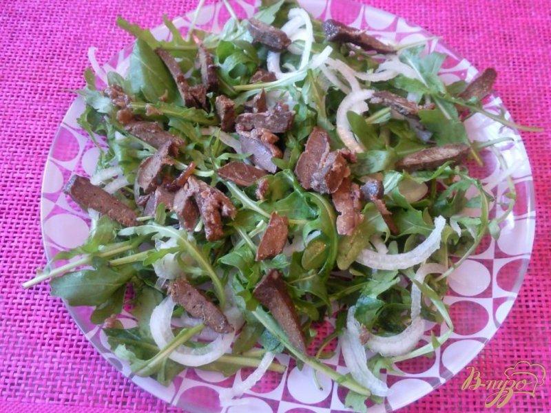 Фото приготовление рецепта: Салат из говяжьей печени с гранатом шаг №4