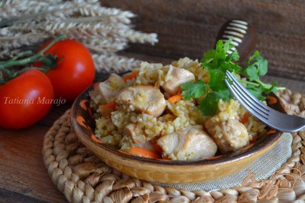 Рецепт Плов из куриного мяса с тремя видами круп