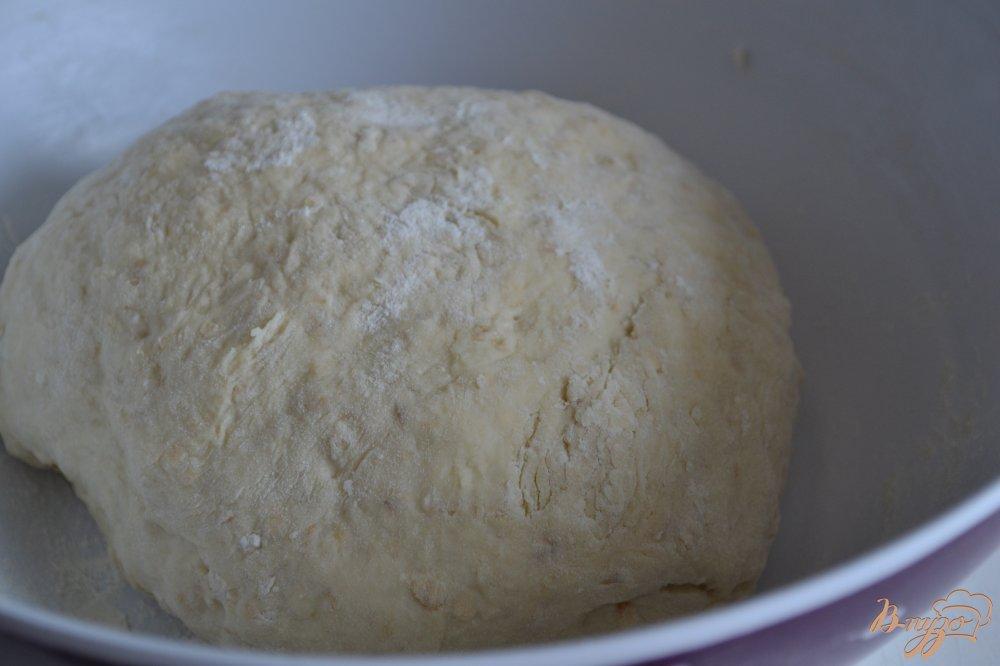 Фото приготовление рецепта: Винный хлеб с овсом шаг №4